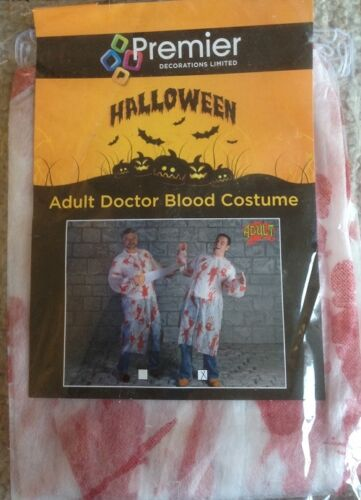 Halloween Adult Doctor Blood Costume Great Value Fun Costume with Bloody Print