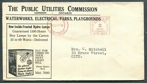 CANADA-METER-POSTAGE-COVER-034-THE-PUBLIC-UTILITIES-COMMISSION-034-2-LONDON