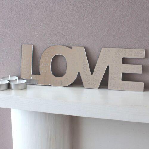 Love home maman papa miroir gravé cheminée cheminée mères cadeau fête des pères