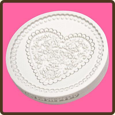 Katy Sue Designs Cake Mould - Lace Heart Mould