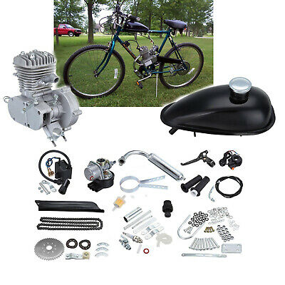 "80ccm Fahrrad Motor Kit Gasbetriebener 2-Takt-Motor für 26/""//28/"" Fahrräder 38km//h"