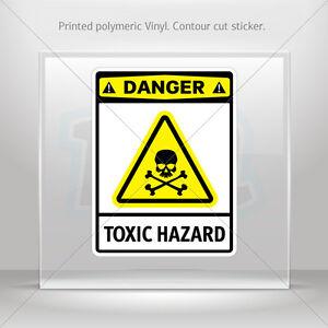 Decals Decal Danger Toxic Hazard Car Motorbike Bike Garage st5 X423X