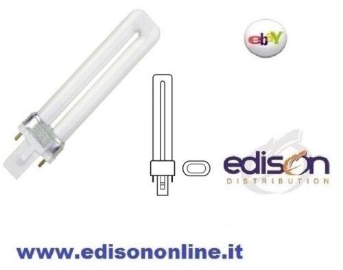 LAMPADA FLUORESCENTE COMPATTA 11W 2PIN NEON G23 LUCE CALDA