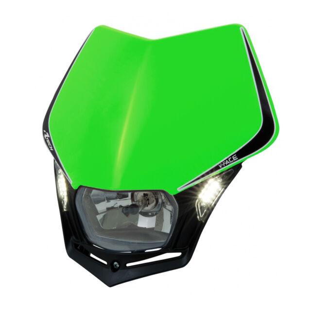 MASCHERINA PORTAFARO RACETECH V-FACE LED VERDE (Green Headlight) R-MASKVENR009