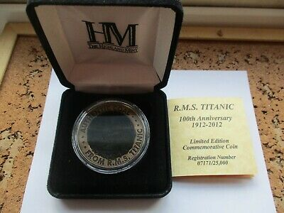 RMS TITANIC LIMITED EDITION 100TH ANNIVERSARY COMMEMORATIVE COAL COIN