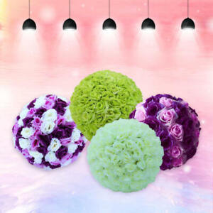 Silk-Rose-Pomander-Flower-Kissing-Ball-Wedding-Bouquet-Party-Home-Decoration-dfh