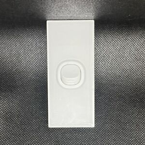 Lumex Silica White Glass Wall Light Switch Architrave Vertical 1 One Gang 16A