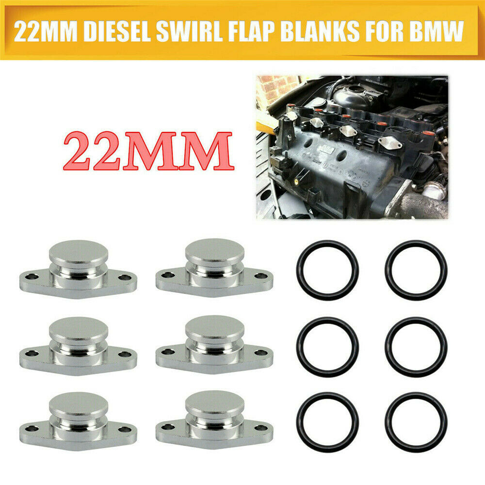 />/> BMW 6 CYLINDER 6X 22 mm SWIRL FLAP SET BUNGS REPLACEMENT M57 /</<