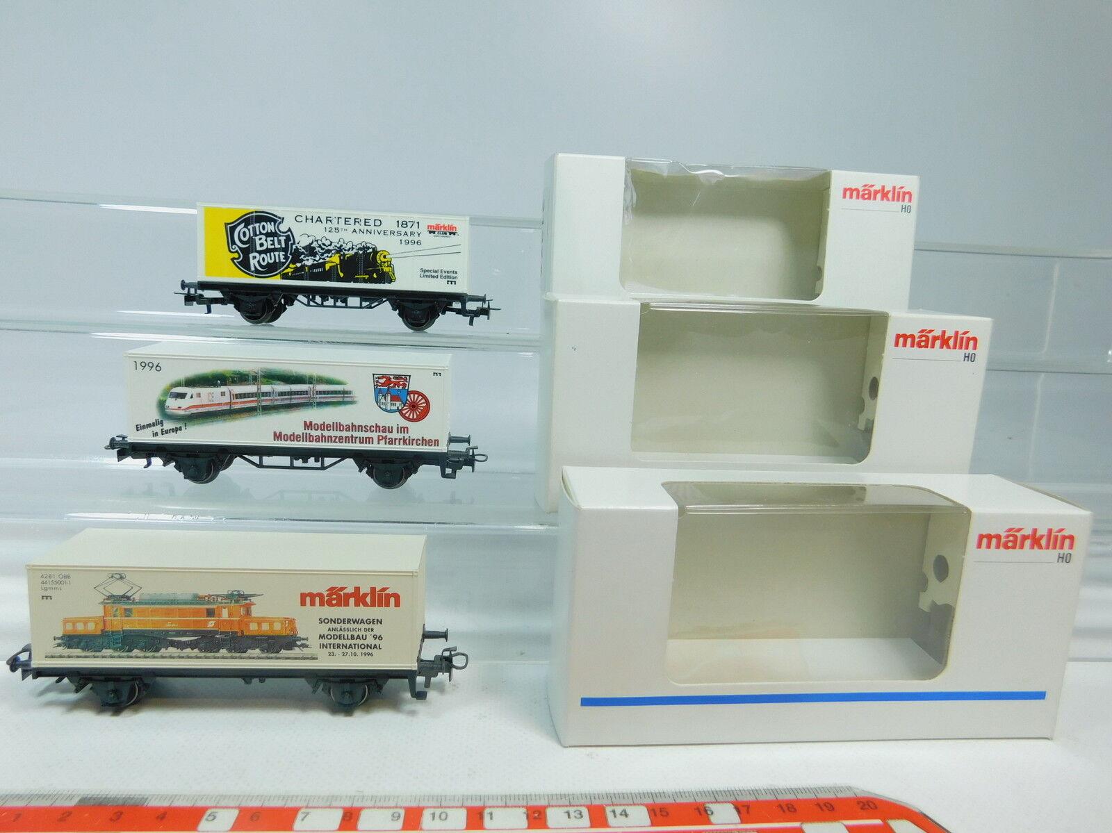Aw989-0, 5 X MÄRKLIN H0 AC Container Load Car  Pfarrkirchen + 2127a etc. , NIP