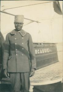 Senegal-Soldat-Senegalais-posant-Vintage-silver-print-Tirage-argentique-d-amp