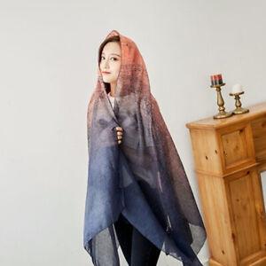 Fashion-Women-039-s-Retro-Pattern-Scarf-Shawl-Wrap-Scarves-Shawls-Cotton-Stole-JA