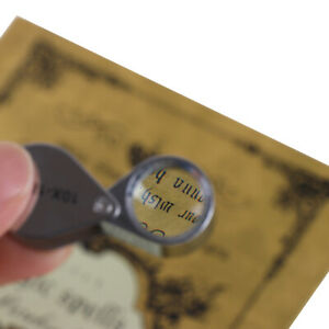 Jewelers-Eye-Loupe-TRIPLET-10X-18mm-Magnifier-Coin-Stamp-Error-Hand-Lens-Case