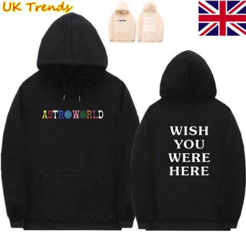 Astroworld Hoodie Sweatshirts Wish You Were Here Men Women Pullover Coat T#nts