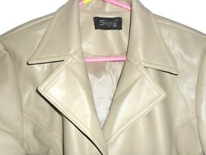 Beige-faux-leather-coats-waterproof-size-16-from-SUZIE-40-034-long