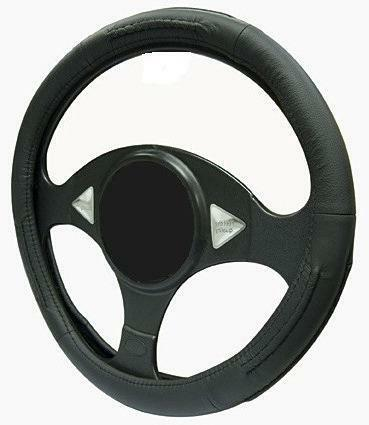BLACK LEATHER Steering Wheel Cover 100/% Leather fits TOYOTA