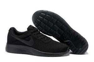 b10bc08b47436 Details about Nike Tanjun Womens Running Shoes All Black Athletic Sneakers  812655