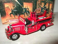 MIB Raro Matchbox YFE09,1932 Ford AA Abierto Taxi Coche De Bomberos