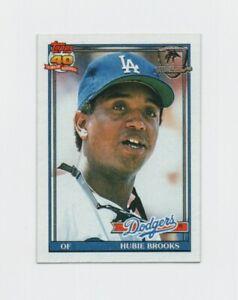 1991 Topps Desert Shield Hubie Brooks Baseball Card #115 Los Angeles Dodgers