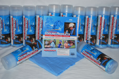 "Comeaux Caps Cooling Towel 17/""X27/"" New NO TUBE Comeaux welding Company Blue Cold"