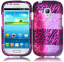 AT&T Samsung Galaxy S3 MINI i8190 Rubberized HARD Phone Case Pink Exotic Skins