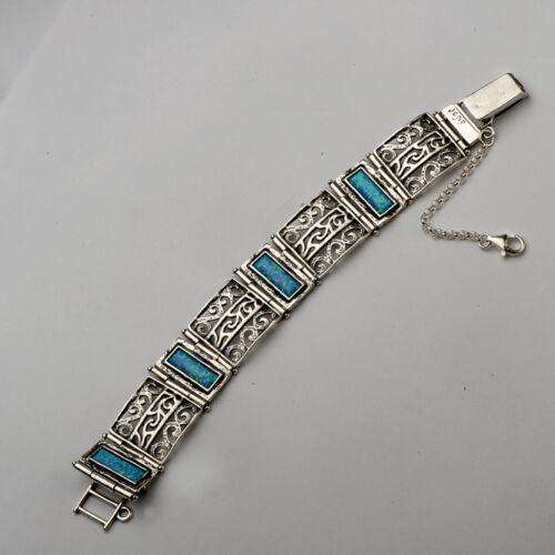 B00888OP shablool Israël didae Handcrafted Argent Sterling 925 Bracelet Avec Opale
