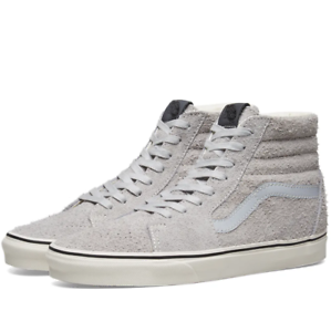 b59c5952ea0c8a Vans SK8 Hi Hairy Suede Gray Dawn Men s Classic Skate Shoes Size 9 ...