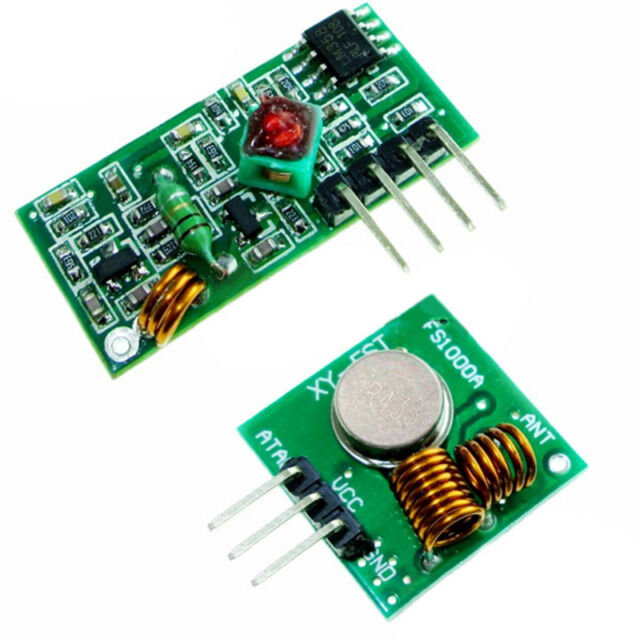 4X 433Mhz RF Transmitter and Receiver Module link kit for Arduino H4U9