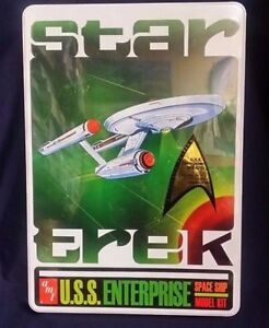 2009 Amt Star Trek Uss Entreprise Ncc-1701 Space Ship Kit Modélisme En Étain