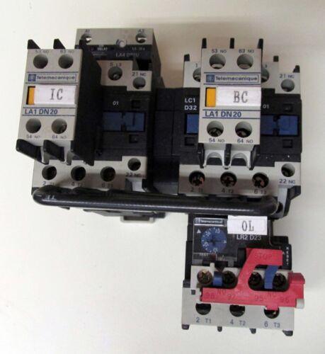 Telemecanique 50 Amp 600 VAC Reversing Contactor LC2D3201 W//Overload LR2D2353