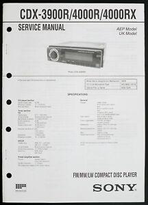 sony cd player wiring diagram sony cdx 3900r 4000r 4000rx original car cd player service manual  sony cdx 3900r 4000r 4000rx original
