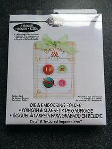 SIZZIX EMBOSSING FOLDER BUTTONS LARGE NEW FITS MOST MACHINES VINTAGE BUTTONS