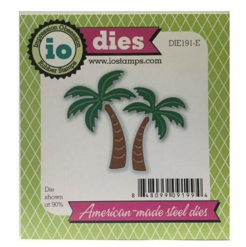 Palm Trees Metal Die Cut Impression Obsession Cutting Dies Beach Travel DIE191-E