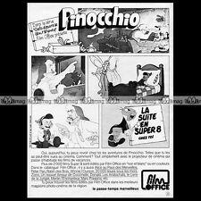FILM OFFICE 'Pinocchio' Walt Disney SUPER 8 1975 Pub Publicité / Advert Ad #A801
