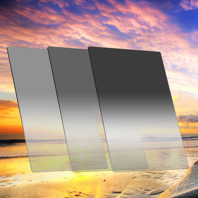 Zomei 150*100mm Gradual Neutral Density Filters Set GND2+4+8 Filter for Cokin Z