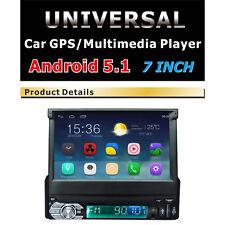 "7"" Car GPS Single Din MP4 Player Stereo Bluetooth WIFI Radio USB Android 5.1"