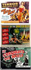 INVASION OF THE SAUCERMEN,IT CONQUORED THE WORLD,THE 27th DAY 50s B Scifi