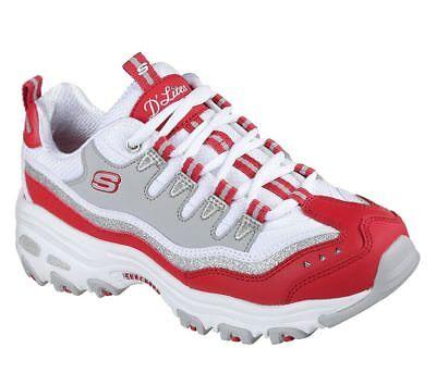 NEU SKECHERS Damen Sneakers Turnschuhe Schnürschuhe D'LITES NEW RETRO Rot   eBay