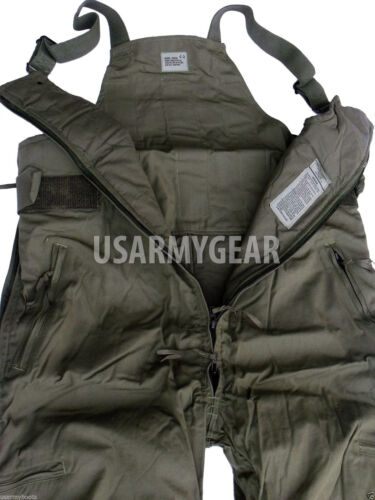 US Army Super Warm CW Cold Weather Insulated BiB Overall Military Cargo Pants 30