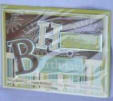 Burgoyne Handcrafted Adult S Birthday Card Green Brown Ebay
