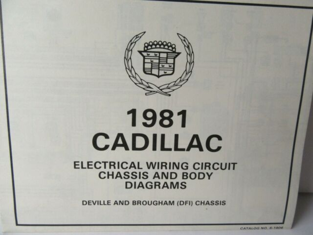 1981 Cadillac Electrical Wiring Circuit Chassis  U0026 Body