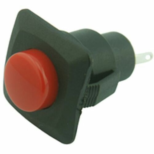 Pack of 2 Low Profile Push Button Switch Black