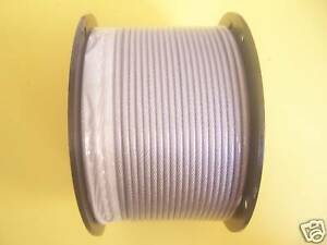 3//16 Coated to 1//4 Diameter 200 ft Reel 7x19 Construction Black Vinyl Coated Cable