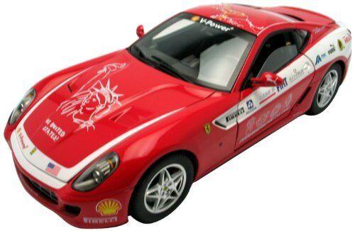 Ferrari 599 gtb fiorano panamerican tour 2006  rouge 1 18 model hot wtalons  expédition rapide à vous