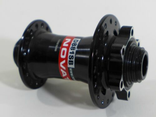 Novatec D881SB 20//15mm Thru Axle or 9mm QR front disc hub MTB or CX 100 oln HB26