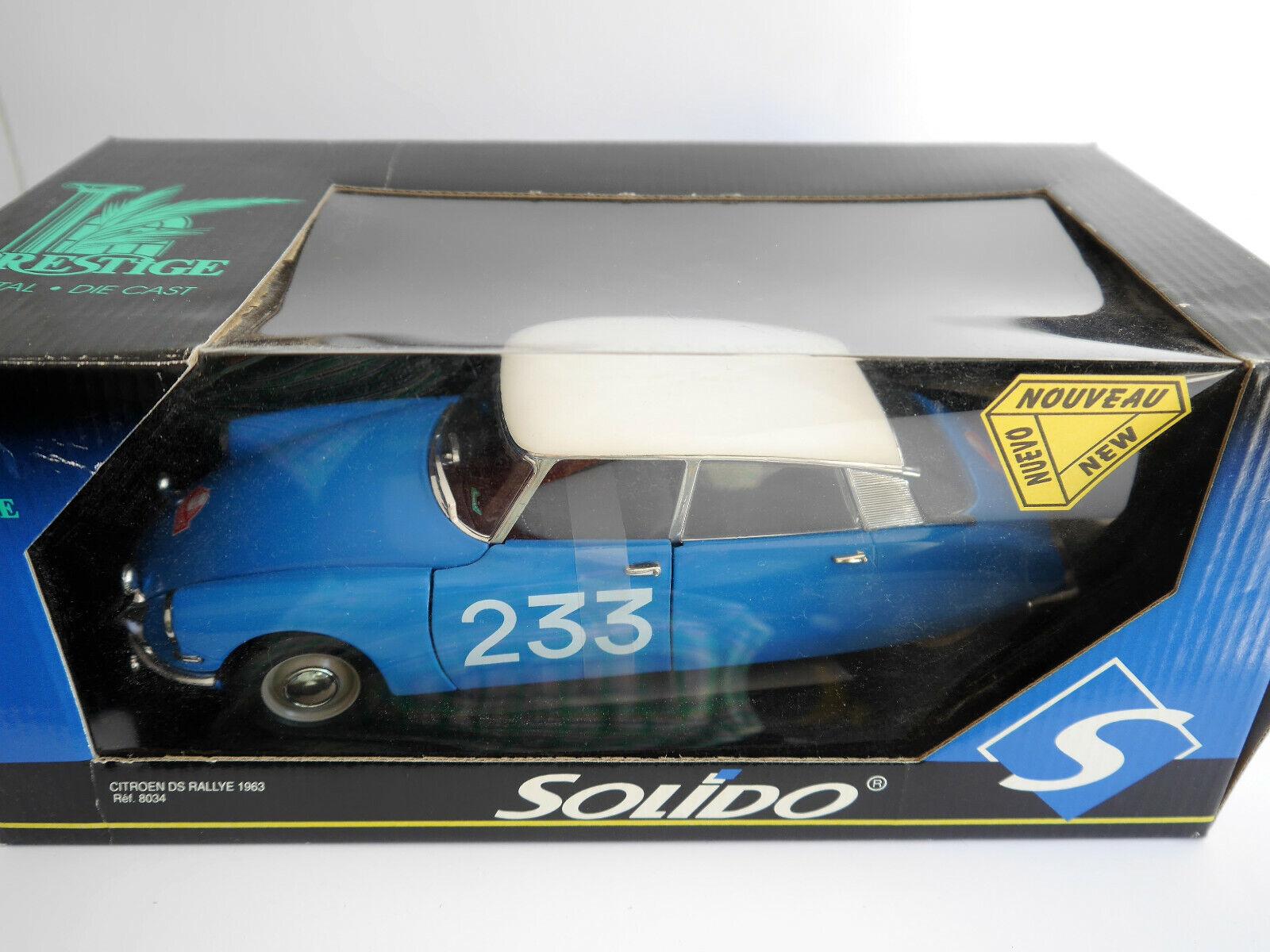 CITROEN DS RALLYE RALLY RAID Monte Carlo 1963  233, SOLIDO  8034 en 1 18 en boîte