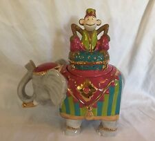 Kasbah Cookie Jar - Circus Monkey And Elephant