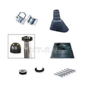 Sat-Mast-Montage-Set-Alu-Kunststoffziegel-Mastschelle-Schw-Mastkappe-Schraube