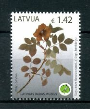 Latvia 2017 MNH Museum of Nature Dog Rose 1v Set Roses Plants Flowers Stamps