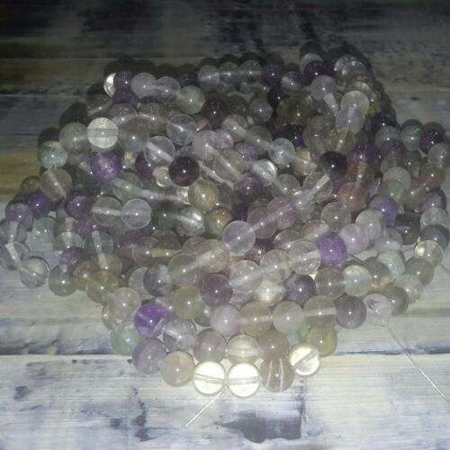 Natural Flourite Purple  8mm  Approx 50pce Strand Oz Seller Free postage