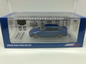Inno-Models-1-64-Honda-Civic-Ferio-1992-Bleu-INNO64